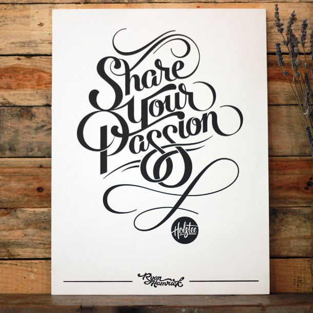 Share Your Passion Print