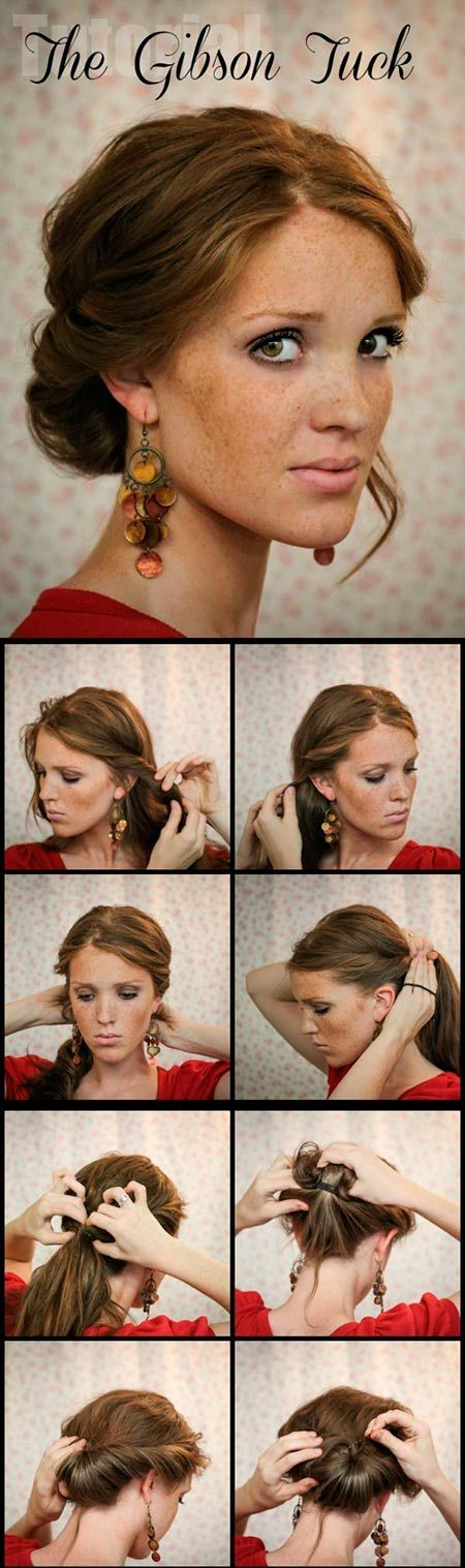 Create an Updo Hairstyle in a Classic Style