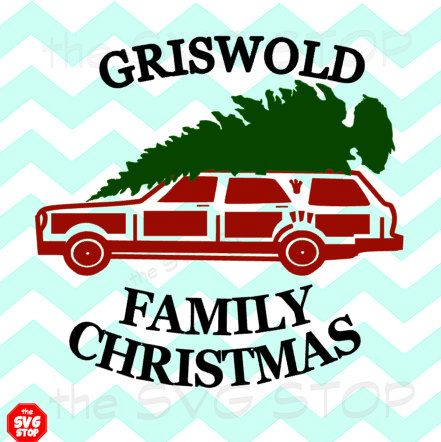 Family Christmas Vacation Wagon SVG files for Cricut, Silhouette, Vinyl Cutters and Screen Printing