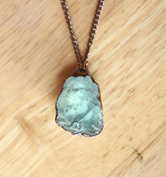 Raw Aquamarine Necklace by Amanda Leilani Designs