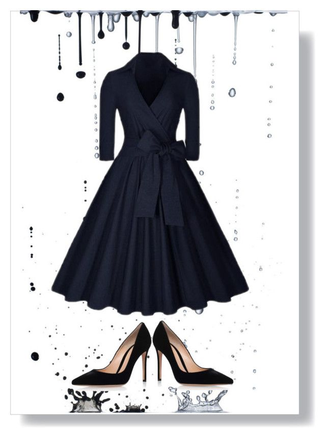 """""""dress for funeral"""" by newbee3 ❤ liked on Polyvore featuring Gianvito Rossi"""