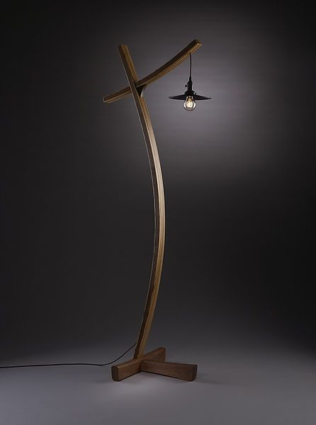 Aglow: Brian Hubel: Wood Floor Lamp - Artful Home.