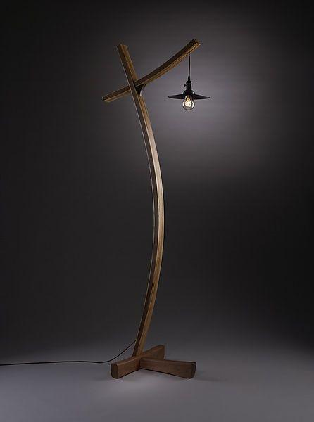 Aglow: Brian Hubel: Wood Floor Lamp - Artful Home.