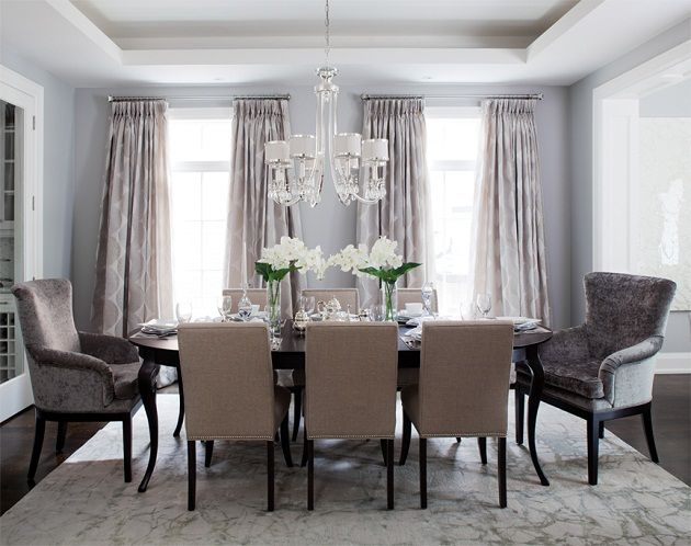 Pale Gray Blue Wall Color Nickel Bar Cart Velvet End Chairs And Dining RoomsDining Room RugsDining