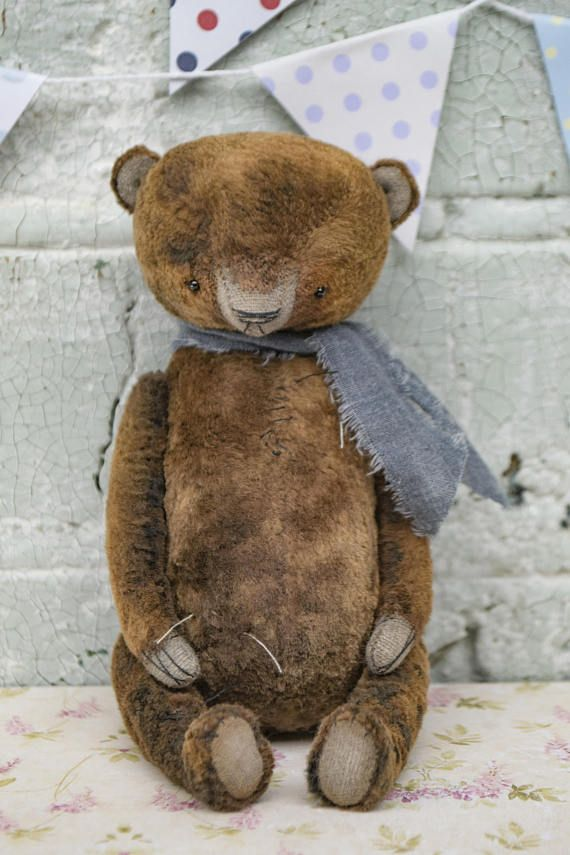 Artistic teddy bear OOAK Vintage collectible bear plush