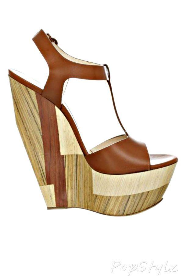 Casadei Italian Leather Platform Sandals