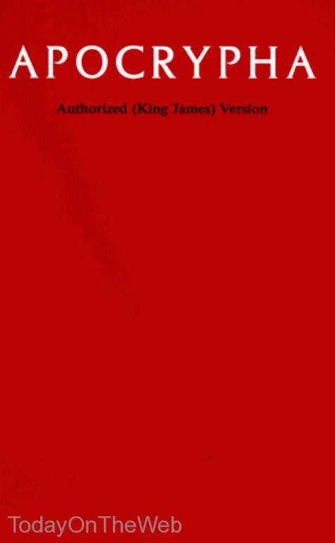 Apocrypha, King James Version (New Hardcover Book)