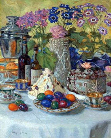 Nikolai Bogdanov-Belskii (Никола́й Петро́вич Богда́нов-Бе́льский; 1868–1945)  Easter Table