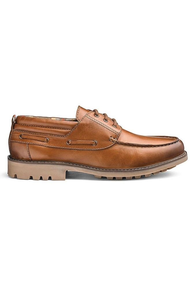 Jacamo Extra Wide Fit Cleated Leather
