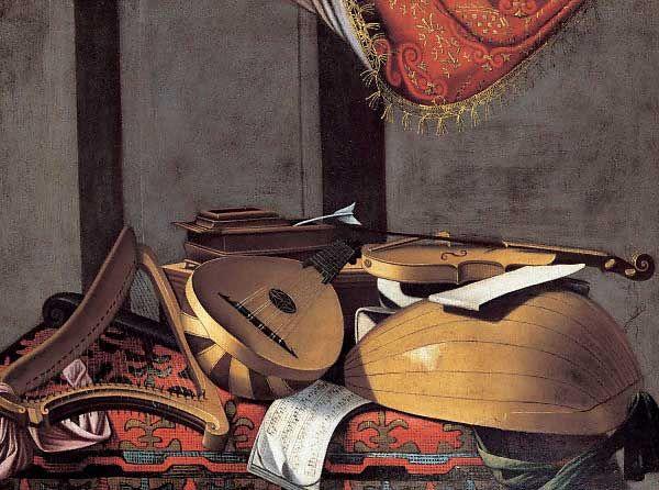 Resultado de imagem para evaristo baschenis strumenti musicali