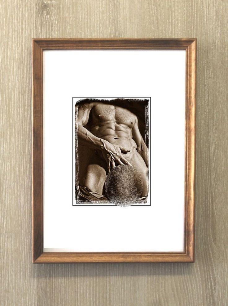 Erotic naked vintage photo 9x13/Photo paper FOMA 1972 / copy/ interior decor  #handmade #sexy