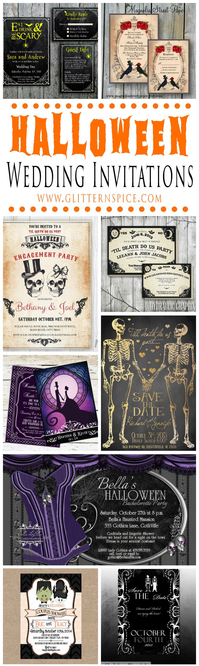 Best 25+ Halloween wedding invitations ideas on Pinterest | Gothic ...