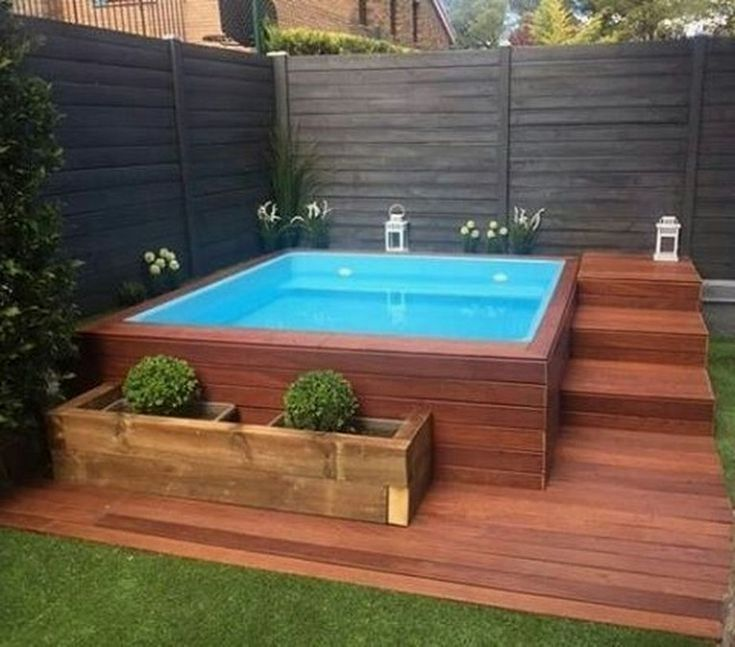27 Cozy Small Backyard Deck Designs Small Pool Design Small Backyard Decks Small Backyard Design
