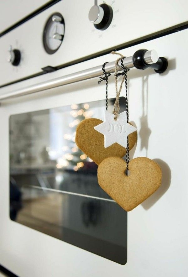 Weihnachtsdekoration Lebkuchen für die Küche