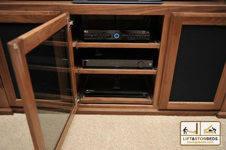 Custom Entertainment Center with component rack