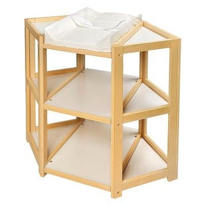 Natural Diaper Corner Baby Changing Table