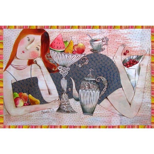 Postcard Fruit Tempetation by Anna Silivonchik