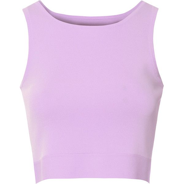 Glamorous Lilac Seamless Vest Top ($31) Liked On Polyvore