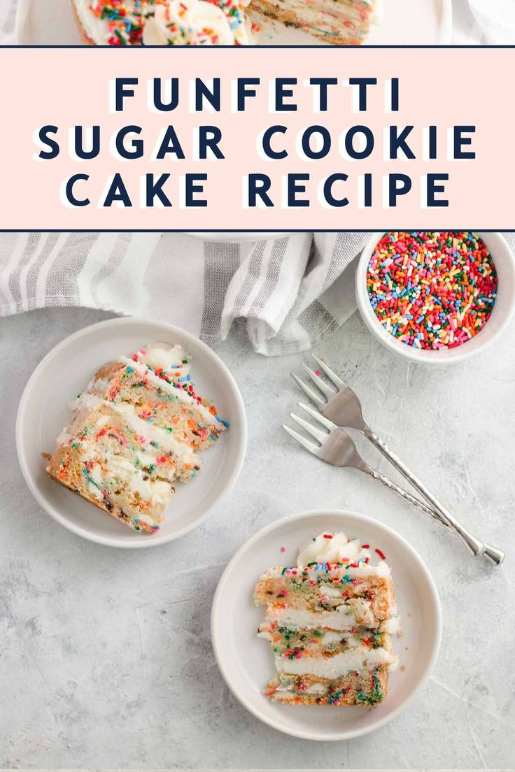 This fantastic recipe combines sugar cookies and funfetti cake for the ultimate …