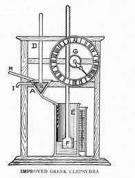 In Ancient Greece, the people used water clocks as alarm clocks. Water would drip continuously, and when the amount of water got too great, it would make a whistling noise, or the alarm.