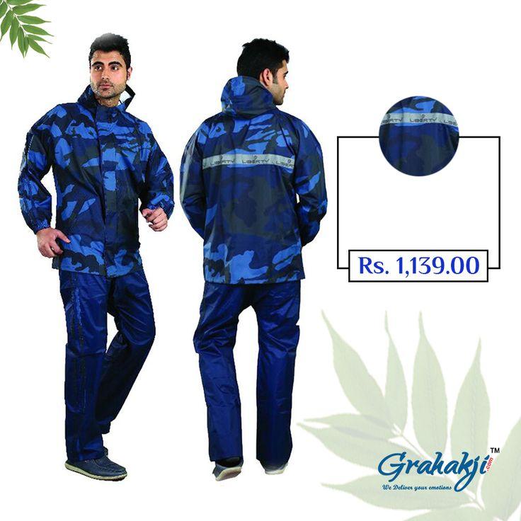 Mens Reversible Spark Tapping Rain Suit #RainSuit #RainCoat #RainCoatForMen #Online #Shopping #Grahakji