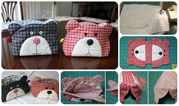 Borsettina a forma di orsetto – Tutorial #handmade #diy #bags