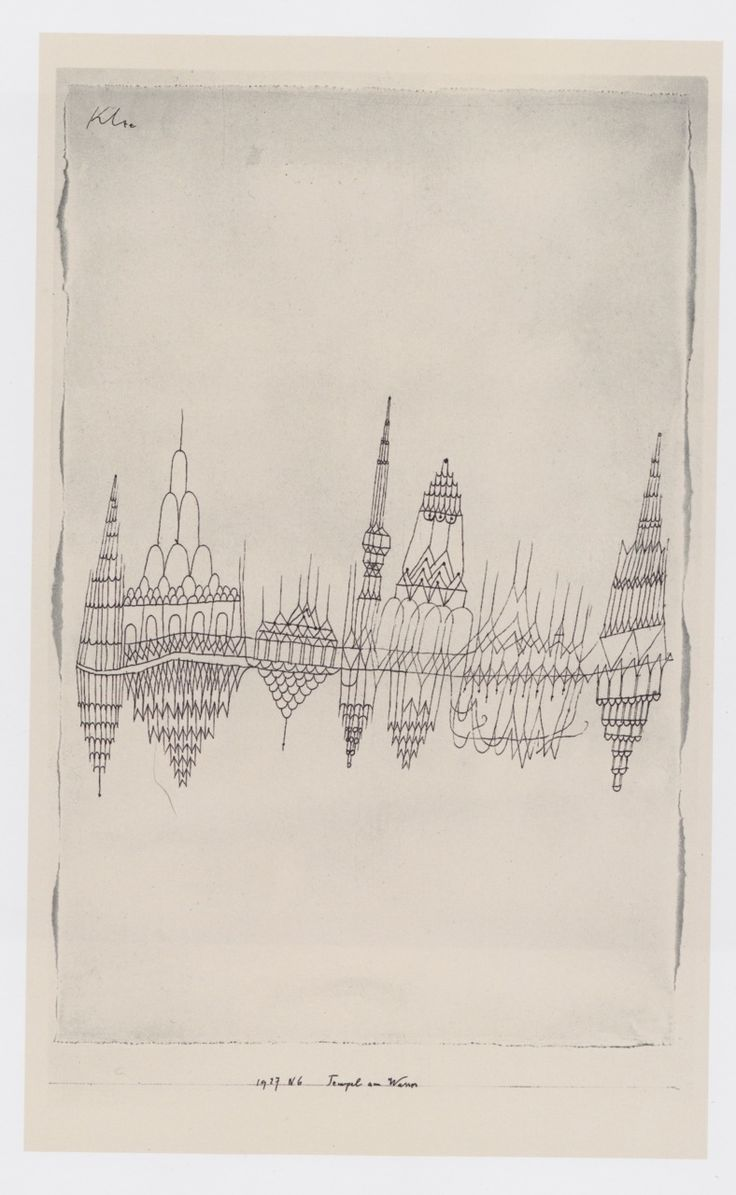 Temples by the Water, 1927 by Paul Klee. Scanned from The Klee Universe.