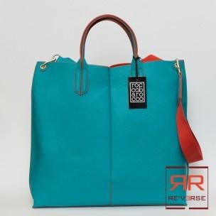 Shopper Giglio Roccobarocco Collezione P/E 2013 ART. ROBS28T01 - REVERSE corato - 89,00€ - SPESE DI SPEDIZIONE IN OMAGGIO - COLORI DISPONIBILI: TURCHESE/ARANCIO, BIANCO/FUCSIA