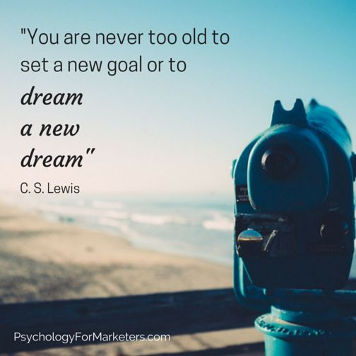 Never too old to dream!