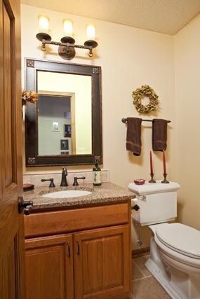 This Bathroom Features The Showplace Covington Door In Cherry Sienna.  Thanks To The Cabinet Store
