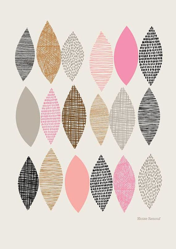 I'm not sure what this is, but I like it :)  Frühling-Sampler-No1, Open Edition Giclee print