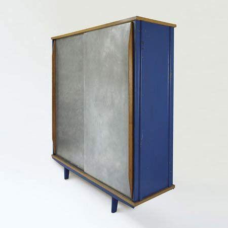 Jean Prouvé, #101 Oak and Aluminum Armoire for Ateliers Jean Prouvé, 1952.
