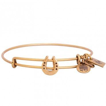 Horseshoe Charm Bangle Russian Gold - I WANT THIS
