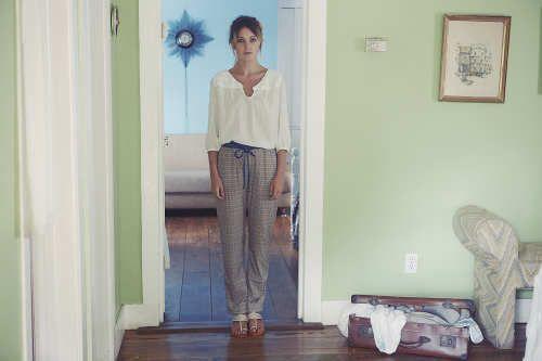 Sara Top, Darby Print Trousers & Tani Sandals