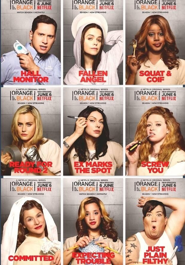 OITNB this was definitely not what jail was like when I was in there lol but still a great show.