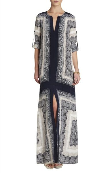 BCBG caftan dress folded/looped sleeves -- LOVE!!!