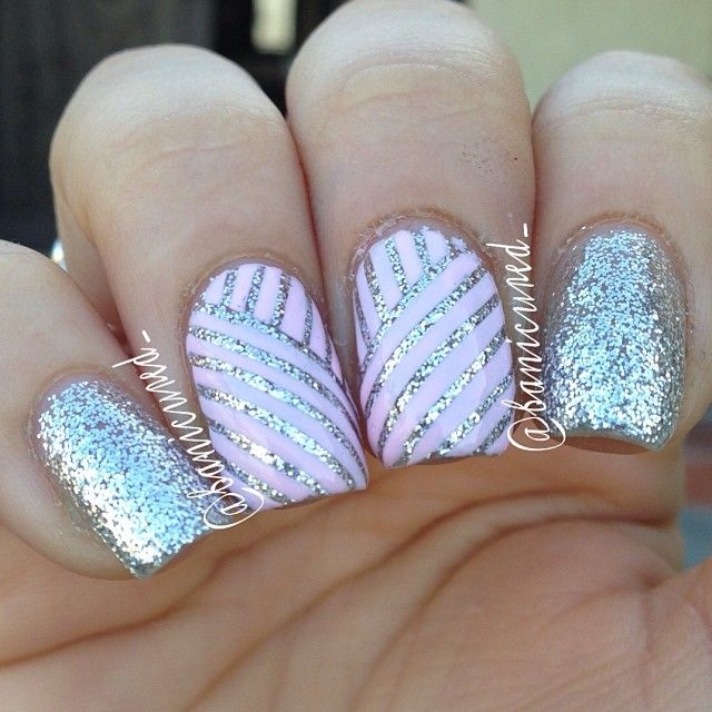nail art paillette graphique