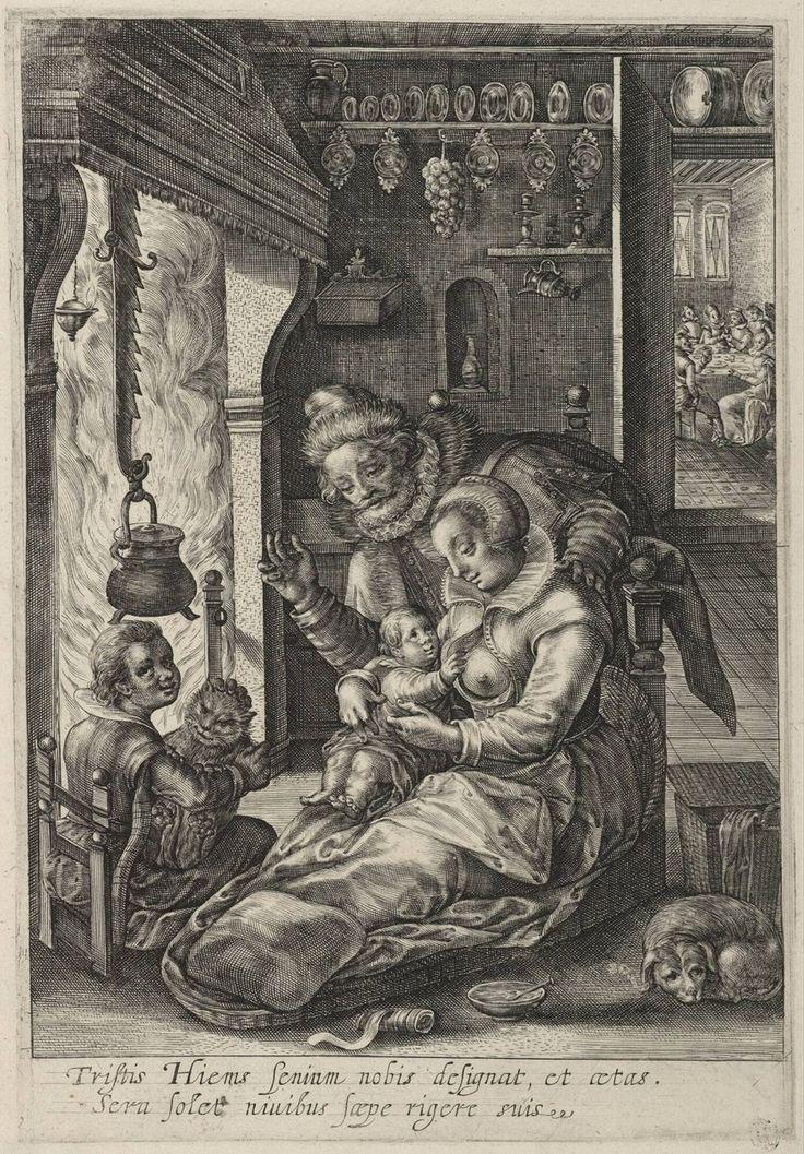 Winter, Magdalena de Passe, c. 1614 - 1620 | Museum Boijmans Van Beuningen