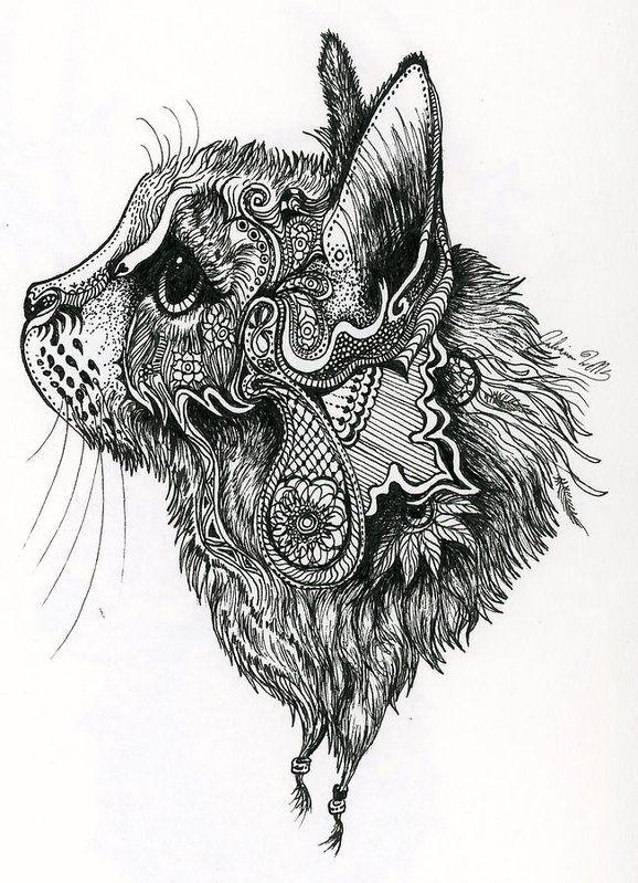 Feline Essence Art Print