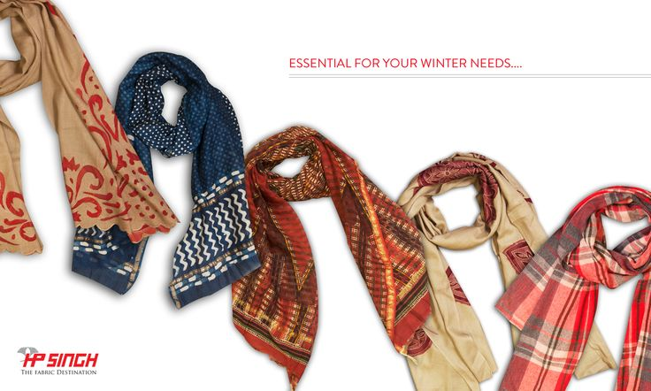 Beautiful scarves in cotton & semi - pashmina.