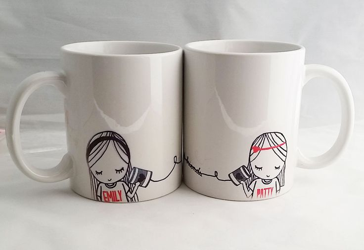 Best Friend Distance Coffee Mug by SincerelyEunice on Etsy, $30.00