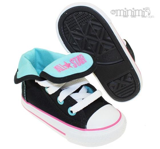 Converse All Star Super Hi- baskets enfant du 20 au 26 - Noir, bleu et rose  #bleu # rose #montante #kids #enfant #ete #printemps  #basket #fun #baby