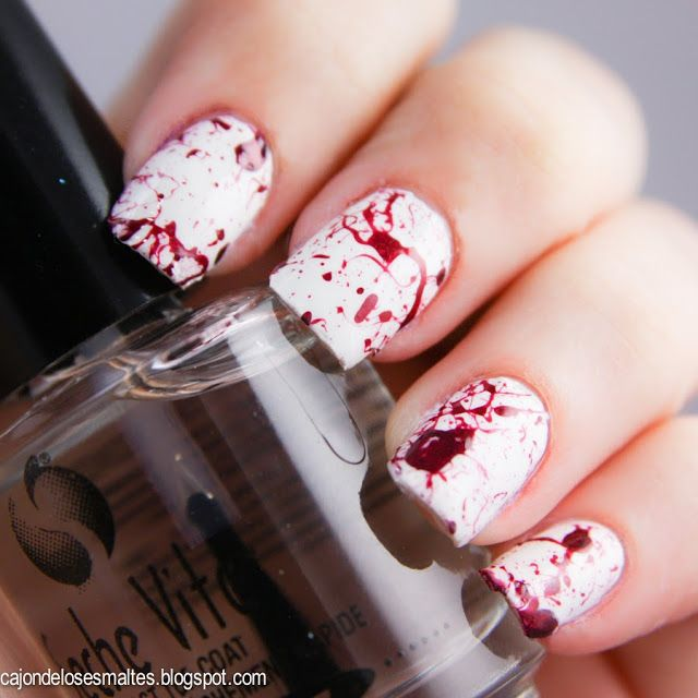 Splatter nail art - técnica de uñas salpicadas