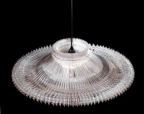 Upcycled Kunststoff Kleiderbugel Lampe Plastik Upcycling In 2020 Kleiderbugel Upcycling Lampe