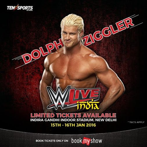 #DolphZiggler is coming to India.  Limited tickets available, book now
