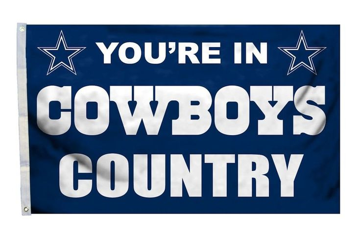 Dallas Cowboys Flag 3x5 Country Design