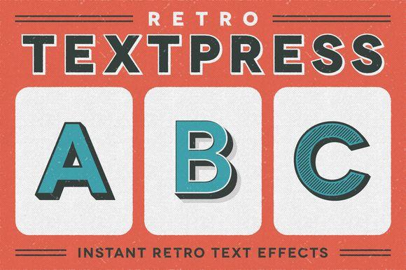 Retro Textpress – Illustrator Styles ~ Layer Styles on Creative M...