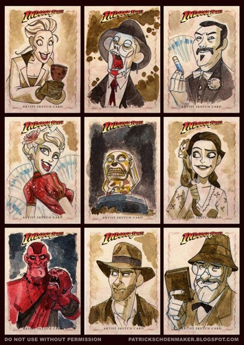 Indiana Jones Character Cartoons.