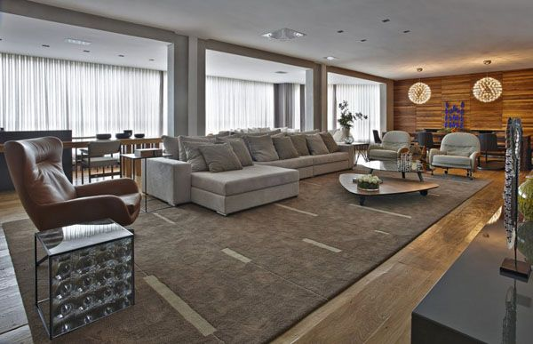 Apartment LA showcases rustic contemporary details in Brazil