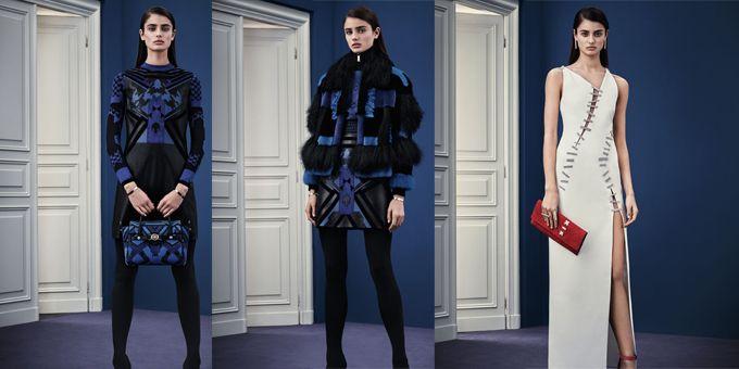 Audace, sexy e dannatamente chic, la Pre-fall 2015 di Versace si racconta con abiti ad alto impatto di seduzione ricchi di grafica .http://www.sfilate.it/238700/la-pre-fall-2015-di-versace-sofisticata-e-audace